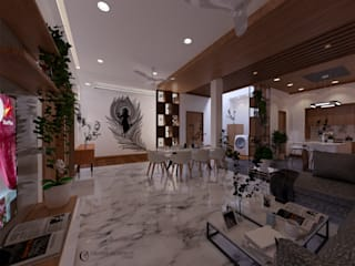 Residence Living Area Design: modern  by Creative Architects Studio ,Modern