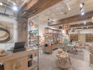 Handicraft retail store Delhi flamingo architects Commercial Spaces Wood White