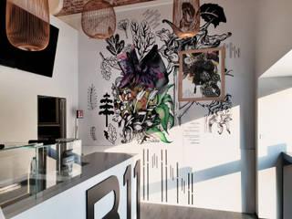 La scrocchiarella d'autore Soggiorno moderno di studio di progettazione architetto caterina martini Moderno
