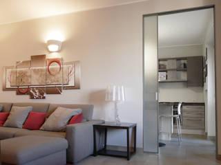 Appartamento in zona fiera Soggiorno moderno di studio di progettazione architetto caterina martini Moderno