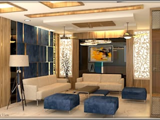 200Sqmt Residence Modern living room by Inception Design Cell Modern