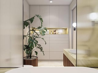 4 BHK Penthouse Modern bathroom by Inception Design Cell Modern