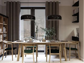 4 BHK Penthouse Modern dining room by Inception Design Cell Modern