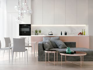 Salas de estar minimalistas por Александр Б Minimalista