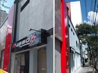Fachada de Academia - Fachada em Acm - São Paulo por North Visual - Letreiros e Fachada em Acm Moderno
