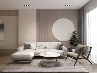 Minimalist living room by ICON INTERIOR Minimalist