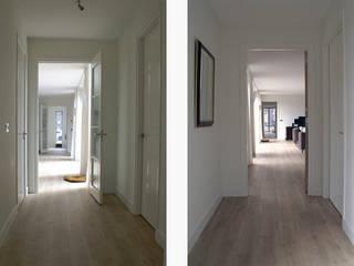 spel van licht Moderne gangen, hallen & trappenhuizen van Studio FLORIS Modern Massief hout Bont