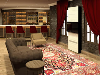 Cigar Lounge : modern  by Rayshon PTY LTD, Modern