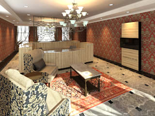 Media Wall Design Office Reception : classic  by Rayshon PTY LTD, Classic