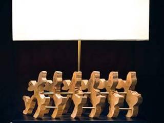 Woodlamp:   por Woodpieces. Livingdesign,Eclético