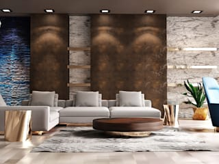 Residential Interior Architecture Modern Oturma Odası HePe Design interiors Modern