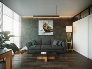 Дизайн интерьера квартиры для семьи из 4 человек Рабочий кабинет в стиле минимализм от Stanislav Zhizhka Минимализм