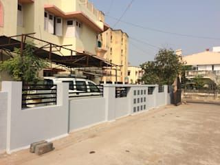 Boundary wall Asian style walls & floors by AEON CONSTRUCTION Asian