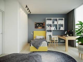 Дизайн интерьера квартиры для семьи из 4 человек Детская комнатa в стиле минимализм от Stanislav Zhizhka Минимализм