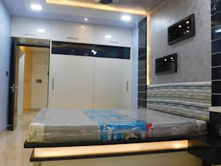 2 BHK COMPLETE INTERIOR PROJECT: modern  by AXLE INTERIOR,Modern
