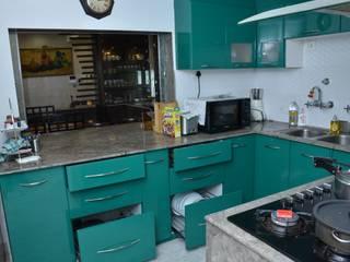 Rosedale Star Apartment Kolkata - Kitchen Modern kitchen by Kphomes Modern