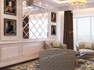 Luxury Apartment - Bar and Lounge Room:  Living room by Kphomes,Colonial