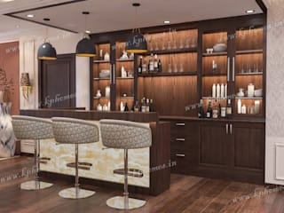 Luxury Apartment - Bar and Lounge Room:  Wine cellar by Kphomes,Colonial
