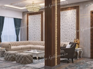 Royal Living and Dining Room Concepts:  Living room by Kphomes,Classic