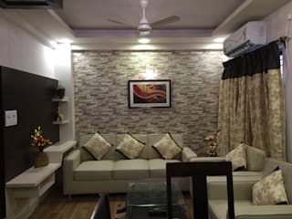Budget Projects - Small living and dining Modern living room by Kphomes Modern