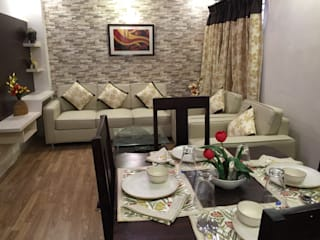 Budget Projects - Small living and dining:  Living room by Kphomes,Modern