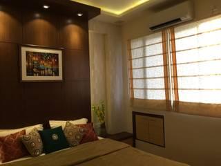 Modern Veneer Finish Bedrooms:  Bedroom by Kphomes,Modern