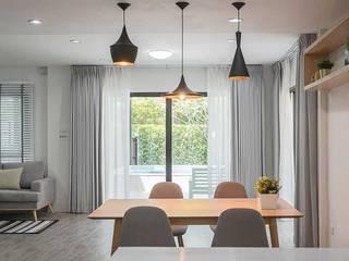 Rèm cửa căn hộ villa KDC Jamona Thủ Đức: hiện đại  by Avinahome, Hiện đại