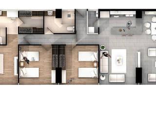 Departamento en Polanco de AAVE Diseño y Construcción Moderno