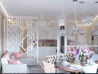 Квартира на Аксаковской Гостиная в классическом стиле от Chloe Home Классический