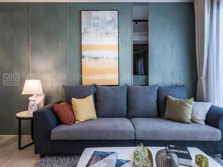 Salas / recibidores de estilo  por SING萬寶隆空間設計, Escandinavo