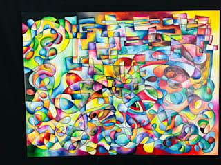 ValentinaSullivan ArtworkPictures & paintings Flax/Linen Multicolored