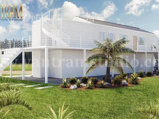 Casas pequeñas de estilo  por Yantram Architectural Design Studio, Moderno