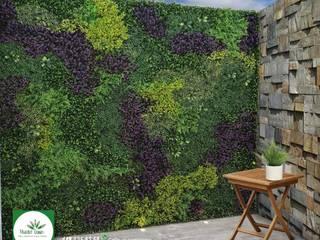 Paredes y pisos de estilo moderno de Muros Verdes Aguascalientes Moderno
