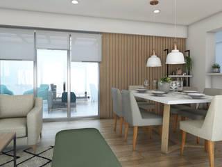 Proyecto Sala Comedor Jesus Maria Comedores de estilo escandinavo de NF Diseño de Interiores Escandinavo