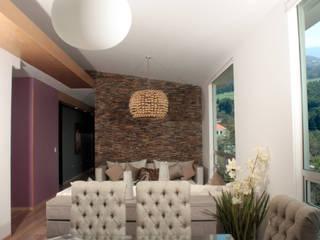Penthouse AVE Comedores mediterráneos de emARTquitectura Arte y Diseño Mediterráneo