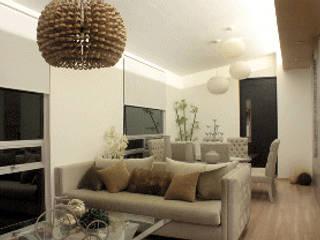 Iluminación Penthouse AVE Salones mediterráneos de emARTquitectura Arte y Diseño Mediterráneo