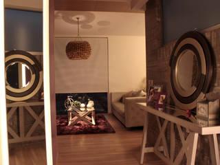Iluminación Penthouse AVE Pasillos, vestíbulos y escaleras mediterráneos de emARTquitectura Arte y Diseño Mediterráneo
