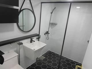 부산 가야 e편한세상 45평형 인테리어: 조은날인테리어디자인의  욕실,모던