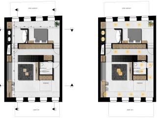 HOUSE/LOFT Moderne woonkamers van PHY interior design Modern