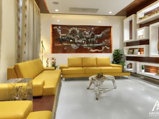 281 Residence Modern living room by Archemist Architects Modern