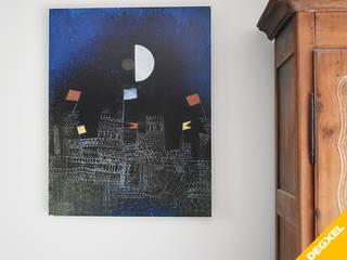 Installation de radiateurs design extra plats design avec décor de tableau d'art DEGXEL Bureau classique Multicolore