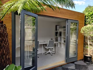 Linea Contemporary Garden Office by Garden Affairs Ltd Сучасний