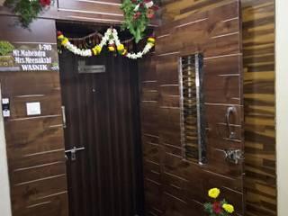 LUXURIOUS 3 BHK Flat Interior Designing for Mr. Mahendra Wasnik | Dhanori, Pune | by varsha interiors Modern