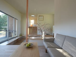 Scandinavian style living room by NASU CLUB Scandinavian