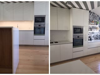 Remodelação de cozinha: Cozinhas  por Margarida Bugarim Interiores,Moderno