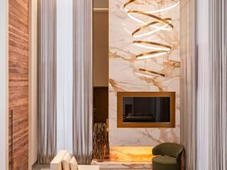 Camila Pimenta | Arquitetura + Interiores Salas de estilo moderno Mármol Blanco