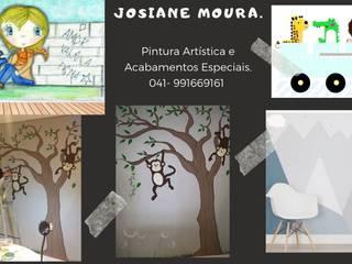 Painéis Artísticos de Parede Jo Moura Pintura Kids Espaços comerciais modernos
