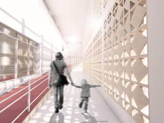 Pasillos, vestíbulos y escaleras de estilo tropical de Oleb Arquitectura & Interiorismo Tropical