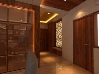 Couloir, entrée, escaliers minimalistes par SPACE DESIGN STUDIOS Minimaliste