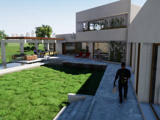 CASA EN LAS ROCAS DE SANTO DOMINGO Casas de estilo mediterráneo de Casas del Girasol- arquitecto Viña del mar Valparaiso Santiago Mediterráneo